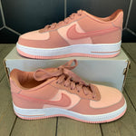 New W/ Box! Nike Air Force 1 LV8 GS Rust Pink White Shoes (Multiple Sizes)