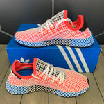 New W/ Box! Adidas Deerupt Runner Solar Red Blue Bird Shoes (Multiple Sizes)