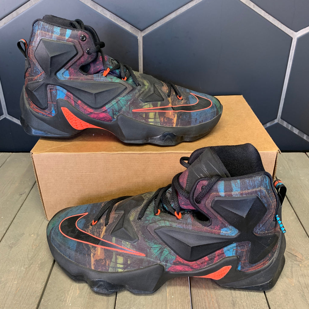 Used W/O Box! Nike Lebron 13 XIII Akronite Shoe Size 11.5