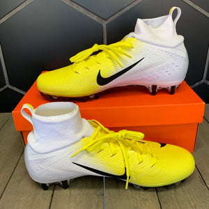 New W/ Box! Nike Vapor Untouchable Pro 3 Volt Yellow White Football Cleats (Multiple Sizes)