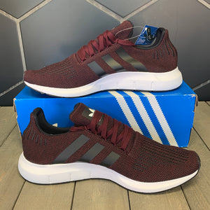 New W/ Box! Adidas Swift Run Maroon White Shoe Size 13