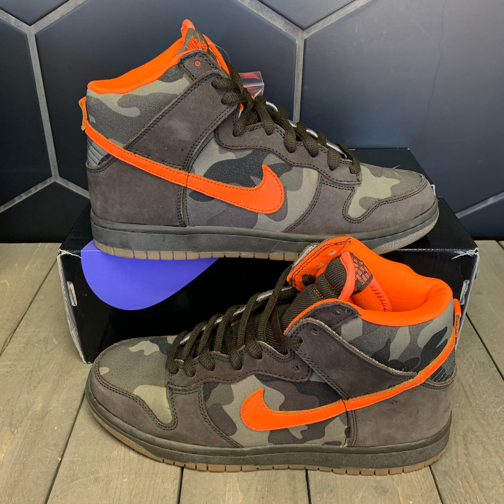 New W/ Box! Nike Dunk SB High Brian Anderson Camo Size 9