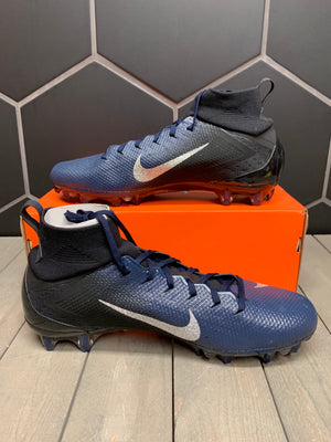 New W/ Box! Nike Vapor Untouchable Pro 3 Navy Blue Metallic Silver Football Cleats Size 13