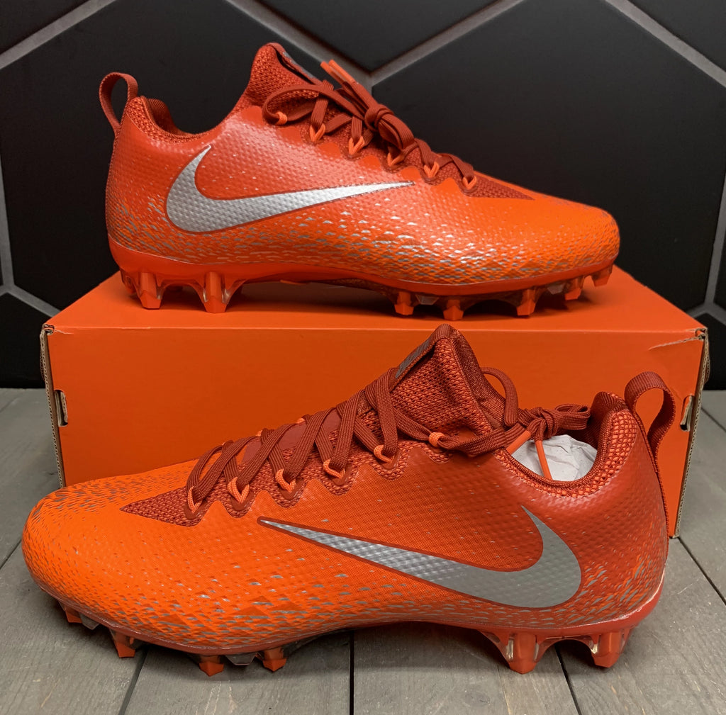 New W/ Box! Nike Vapor Untouchable Pro Silver Orange Football Cleats Size 10