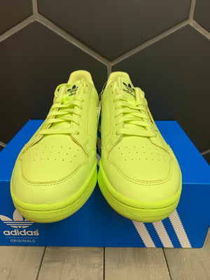 New W/ Box! Adidas Continental 80 Semi Frozen Yellow Shoe (Multiple Sizes)