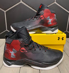 New W/ Damaged Box! Under Armour Curry 2.5 Black Red Basketball Shoe (Multiple Sizes)