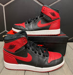 Used W/ Box! 2013 Air Jordan 1 Retro High Bred BG Shoe Size 5.5Y