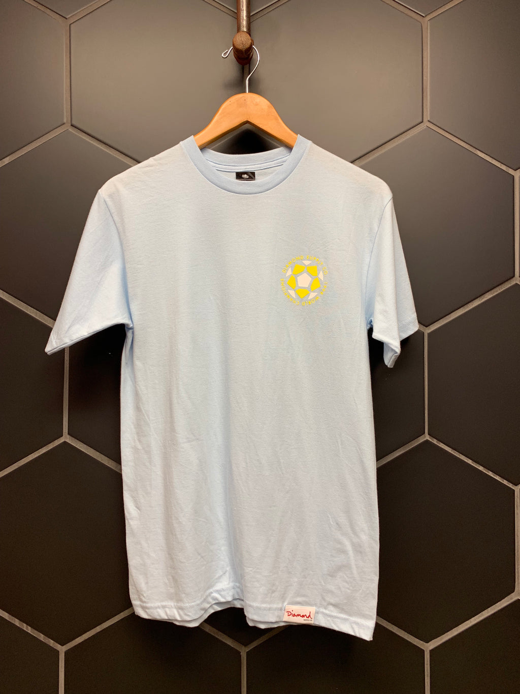 New! Diamond Supply Co Light Blue World Championship S/S T-Shirt (Multiple Sizes)
