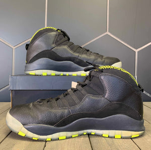 Used W/ Box! Air Jordan 10 Venom Black Green Size 13