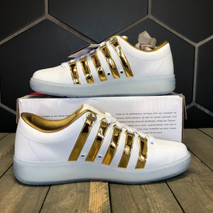 K-Swiss 'Classic 2000 LE' White/Gold (Multiple Sizes)
