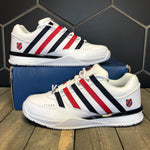 K-Swiss 'Baxter' White/Corporate (Multiple Sizes)