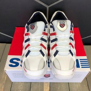 K-Swiss 'ST429' White/Red (Multiple Sizes)