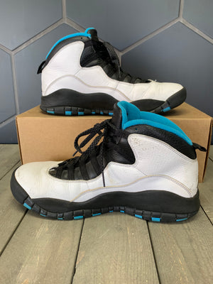Used W/O Box! Air Jordan 10 Powder Blue Shoe Size 9.5