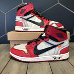 Used W/ Damaged Box! Air Jordan x Off White The Ten Chicago 1 Size 10.5