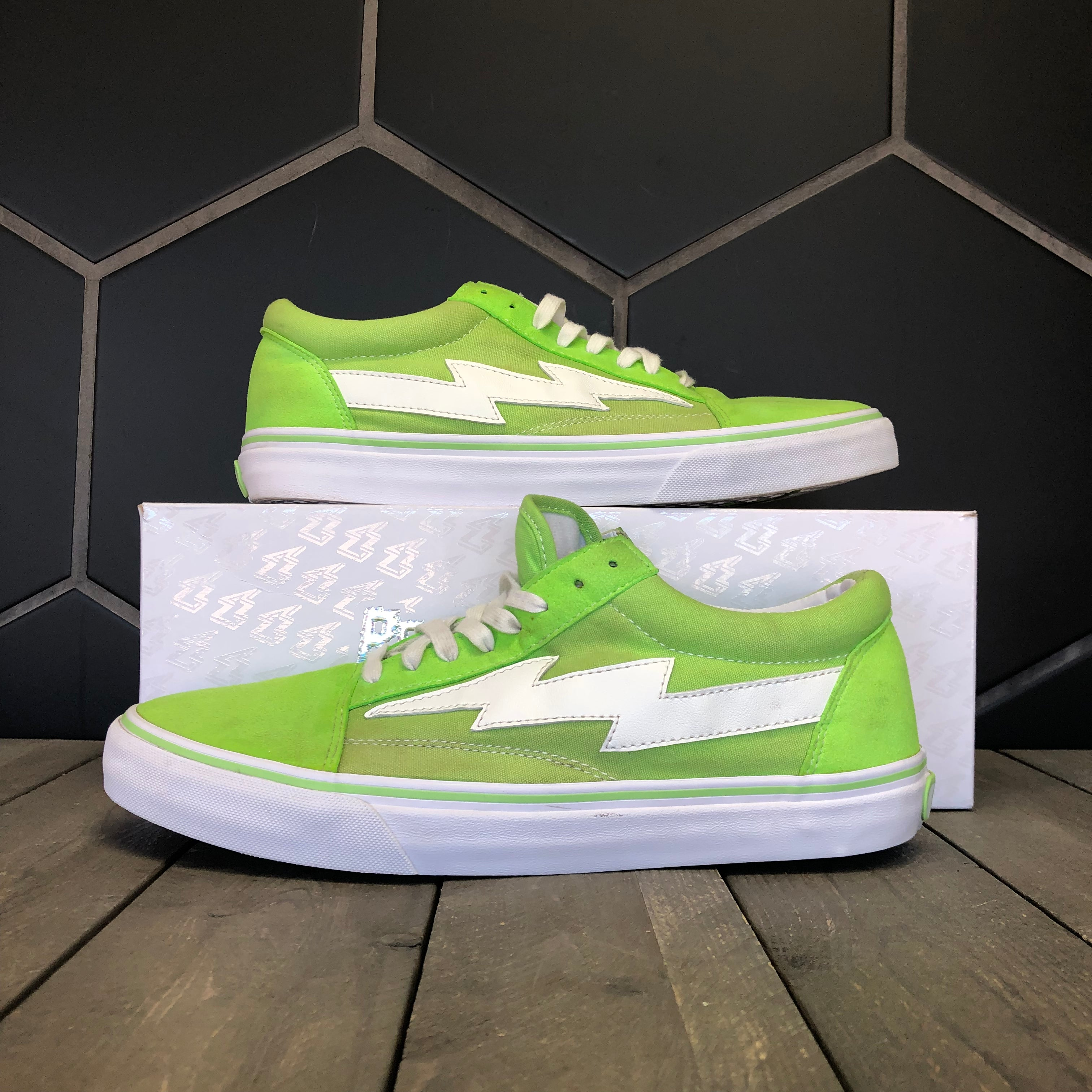 Used W/ Box! Revenge x Storm Bolt Green Lime Sneakers Size 11