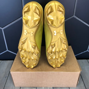New W/O Box! Under Armour Hammer MC Gold High Cleats Size 14