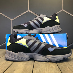 New W/ Box! Adidas Yung-96 Carbon Grey Lime Running Shoes (Multiple Sizes)