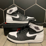 Used W/ Box! Air Jordan 1 High RE2PECT Black White Size 11.5