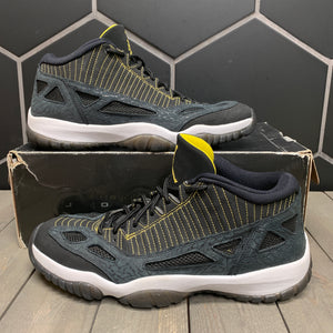 Used W/ Damaged Box! Air Jordan 11 Retro Low IE Black Zest Size 12