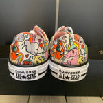 New W/ Box! Youth Converse Chuck Taylor All Star Ox White Emoji Size 2