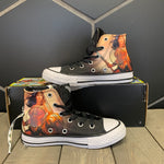 New W/ Box! Youth Converse Chuck Taylor All Star Hi Black Wonder Woman Size 11