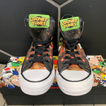 New W/ Box! Mens Converse Chuck Taylor All Star Hi Looney Tunes Marvin Martian Black Size 4