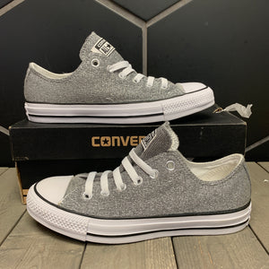 New W/ Damaged Box! Womens Converse Chuck Taylor OX Silver Grey Size 7