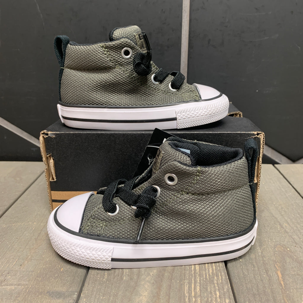 New W/ Box! Infant Converse Chuck Taylor All Star Street Mid Olive Black Size 5