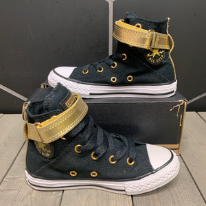 New W/ Damaged Box! Youth Converse Chuck Taylor All Star Brea Hi Black Gold Size 12