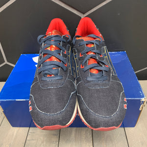 Used W/ Box! Asics Gel Lyte III Navy Blue Japanese Denim Red Kimono Size 13