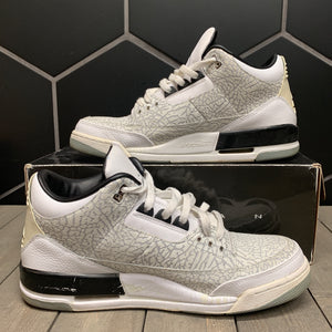 Used W/ Box! Air Jordan 3 White Flip Size 13