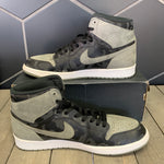 Used W/ Box! Air Jordan 1 High Black Shadow Camo Green Size 12