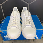 Used W/ Damaged Box! Adidas Stan Smith Triple White Size 12