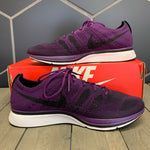 Used W/ Box! 2017 Nike Flyknit Trainer Night Purple White Size 9