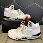 Used W/ Damaged Box! Air Jordan 5 White Cement Size 8.5