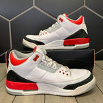 Used W/ Damaged Box! 2013 Air Jordan 3 Fire Red Size 10