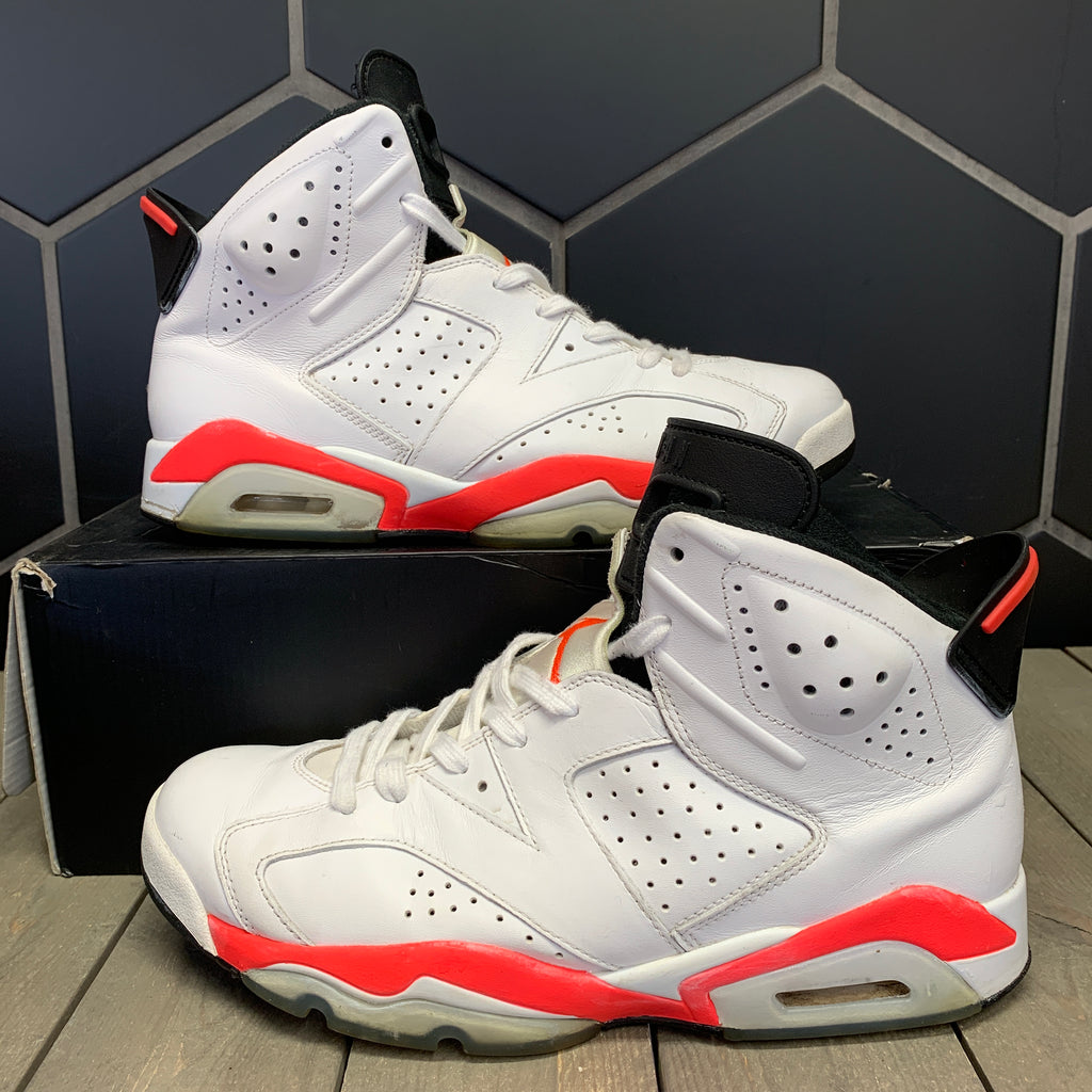 Used W/ Damaged Box! Air Jordan 6 White Infrared Size 9.5