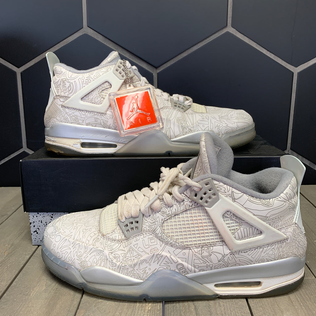 Used W/ Box! Air Jordan 4 White Laser Size 13