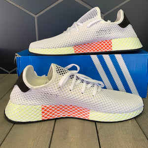 New W/ Box! Adidas Deerupt Runner Chalk White Running Shoes (Multiple Sizes)