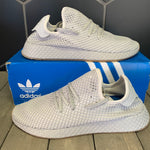 New W/ Box! Adidas Deerupt Runner Muted Neon Light Grey (Multiple Sizes)