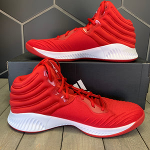 New W/ Box! Adidas SM Mad Bounce 2018 Team Red White Basketball Shoes Size 14