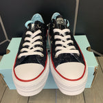 New W/ Box! Womens Converse x Chiara Ferragni Chuck Taylor All Star Black White Glitter  (Multiple Sizes)