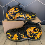 Used W/O Box! Nike x Supreme Air Foamposite One Black Size 10.5