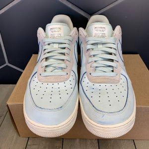 Used W/O Box! Nike Air Force 1 Devin Booker Sample Teal White Moss Point PE Shoes Size 13