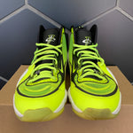 Used W/O Box! Nike Air Penny 5 Highlighter Yellow Black Shoes Size 11