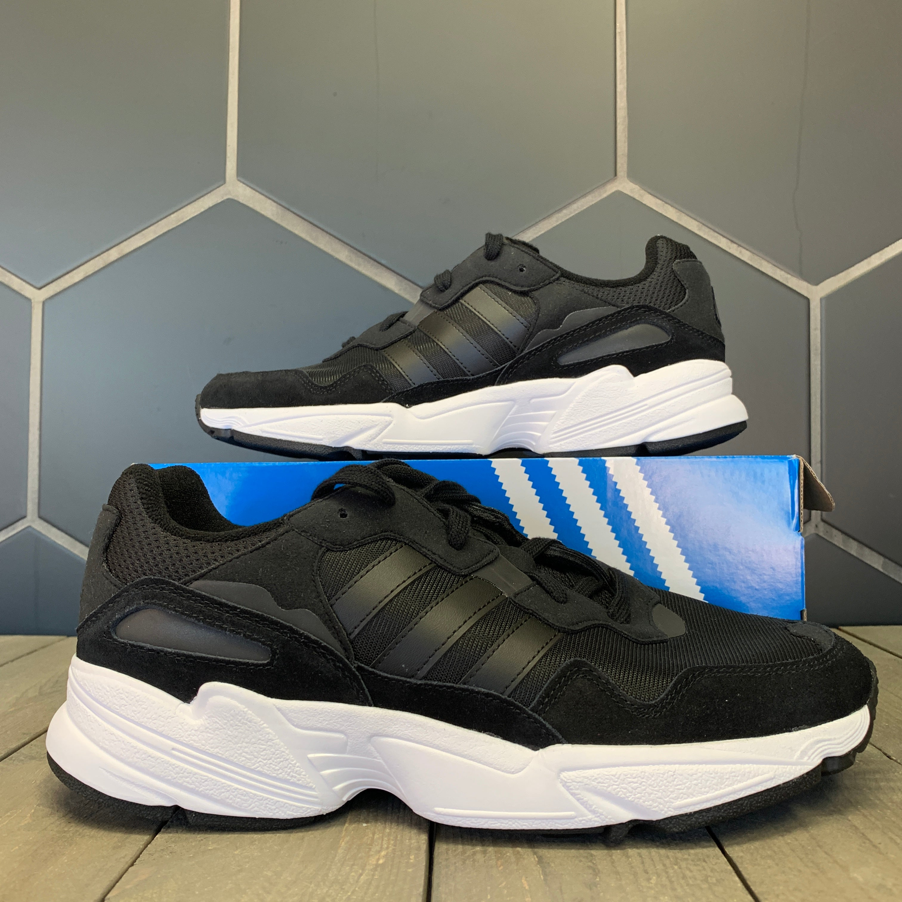 New W/ Box! Adidas Yung-96 Core Black White Running Shoes (Multiple Sizes)