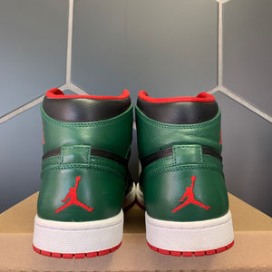 Used W/O Box! Air Jordan 1 High Gucci Black Green Size 11