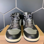 Used W/O Box! Air Jordan 1 Mid Cool Grey Black Size 13
