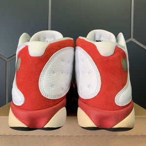 Used W/O Box! Air Jordan 13 Retro Grey Toe Red Shoes Size 13