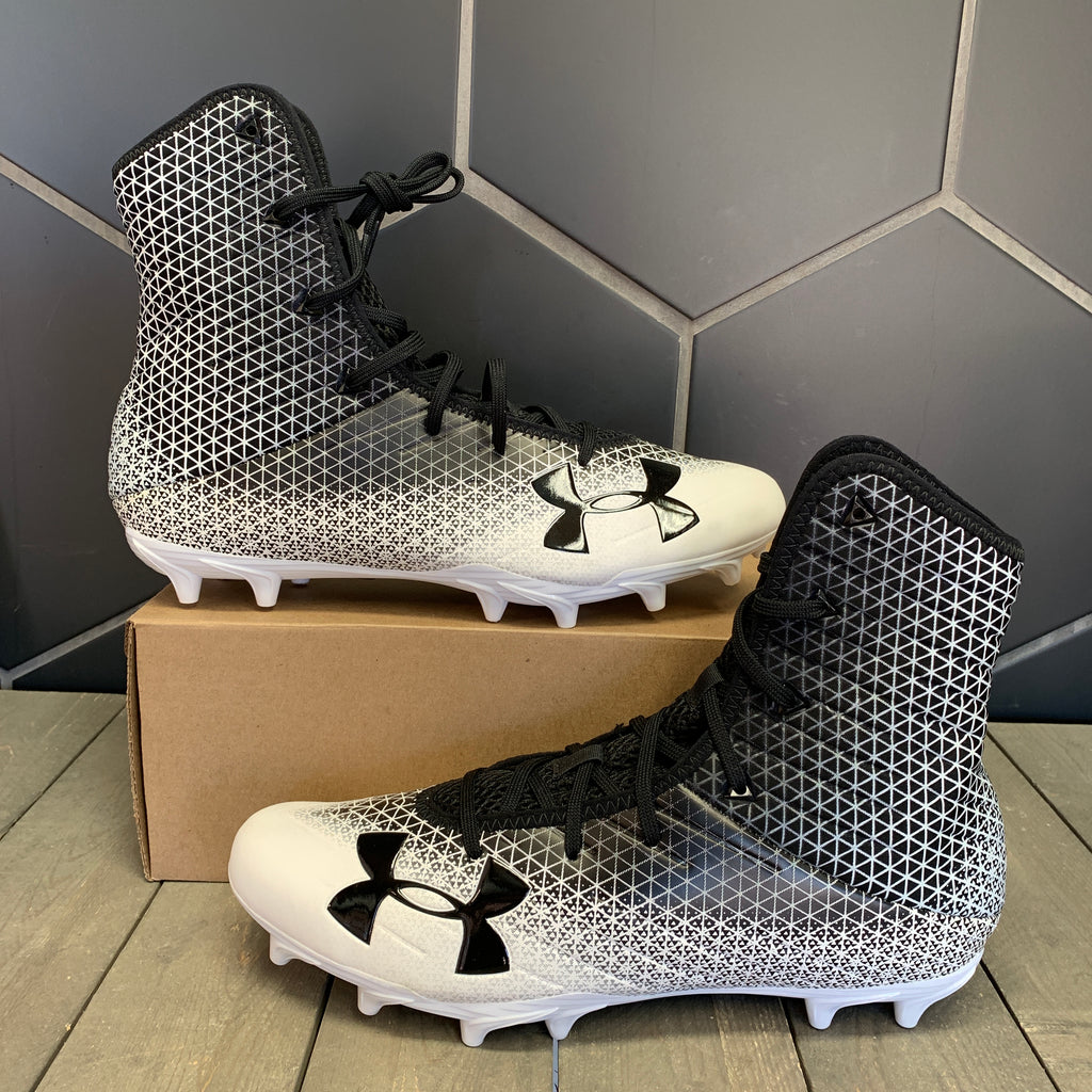 New W/O Box! Under Armour Highlight Select Football Cleats White Black (Multiple Sizes)